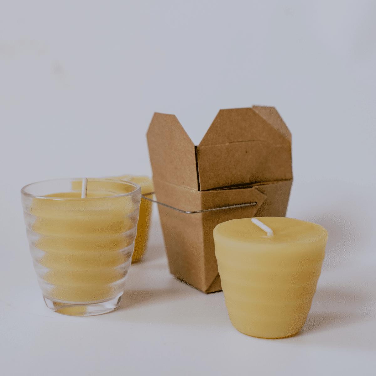 Bijenwas kaarsen